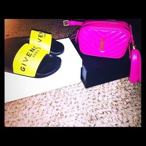 Ysl belt bag pink box and card included